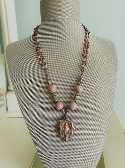 blessed mother & rhodonite