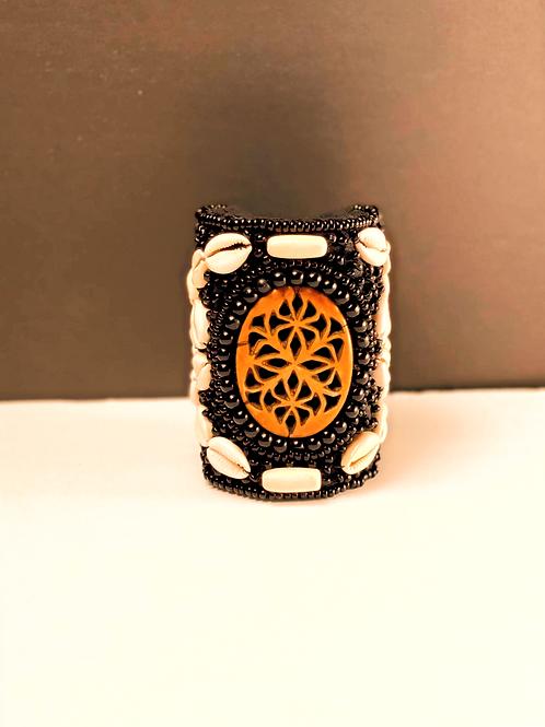 African blackwood cuff bracelet