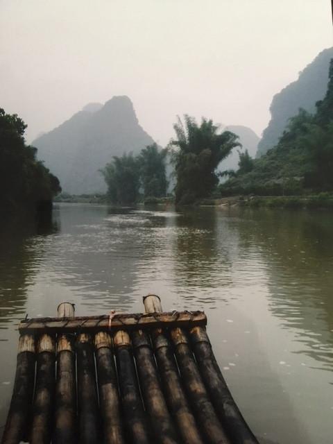Bamboo raft, River Liliang, Yangshou, China