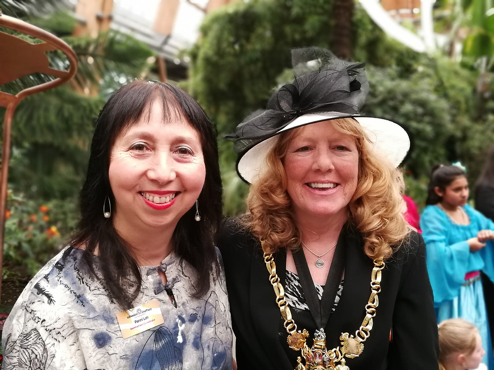 Panni Loh and Lord Mayor of Sheffield Councillor Anne Murphy-photo Lee Furness