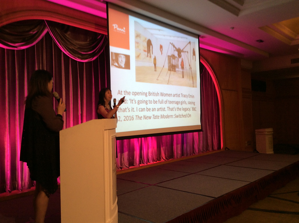 Panni Loh presenting at the International Women's Art Conference, Kaoshiung, Taiwan