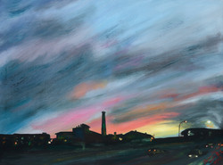 Sunset over Attercliffe