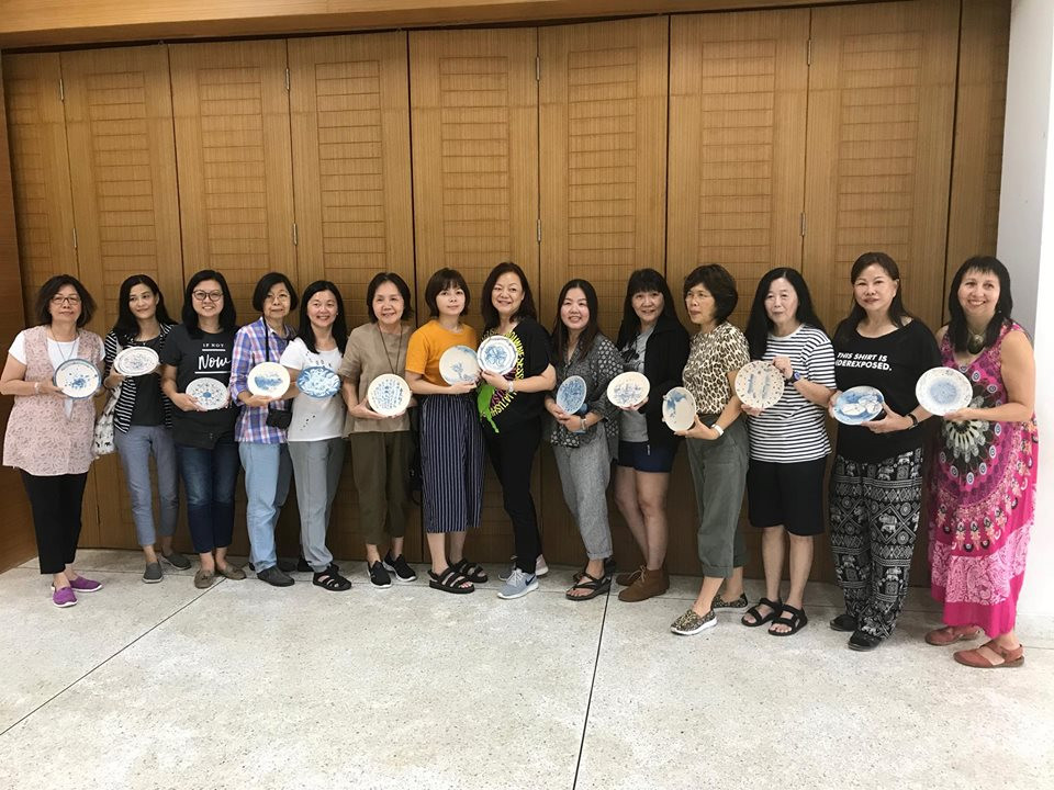 Some of the Malaysian artists with their plates