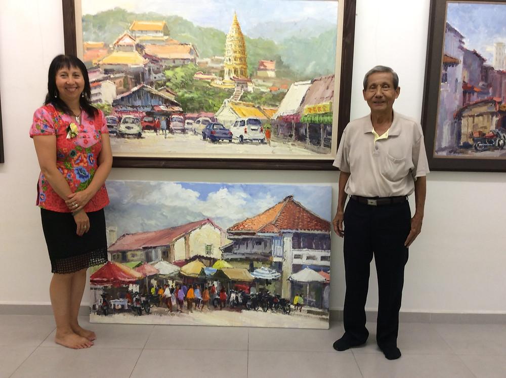 Panni Loh with Chong Hong Fatt at his gallery