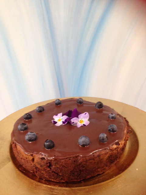 Panni Loh beetroot, chocolate and blueberry cake