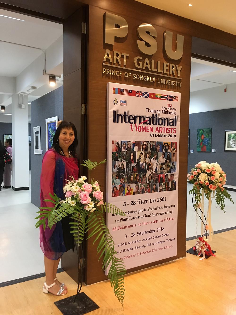 Panni Loh at the International Women Artist exhibition, PSU Gallery