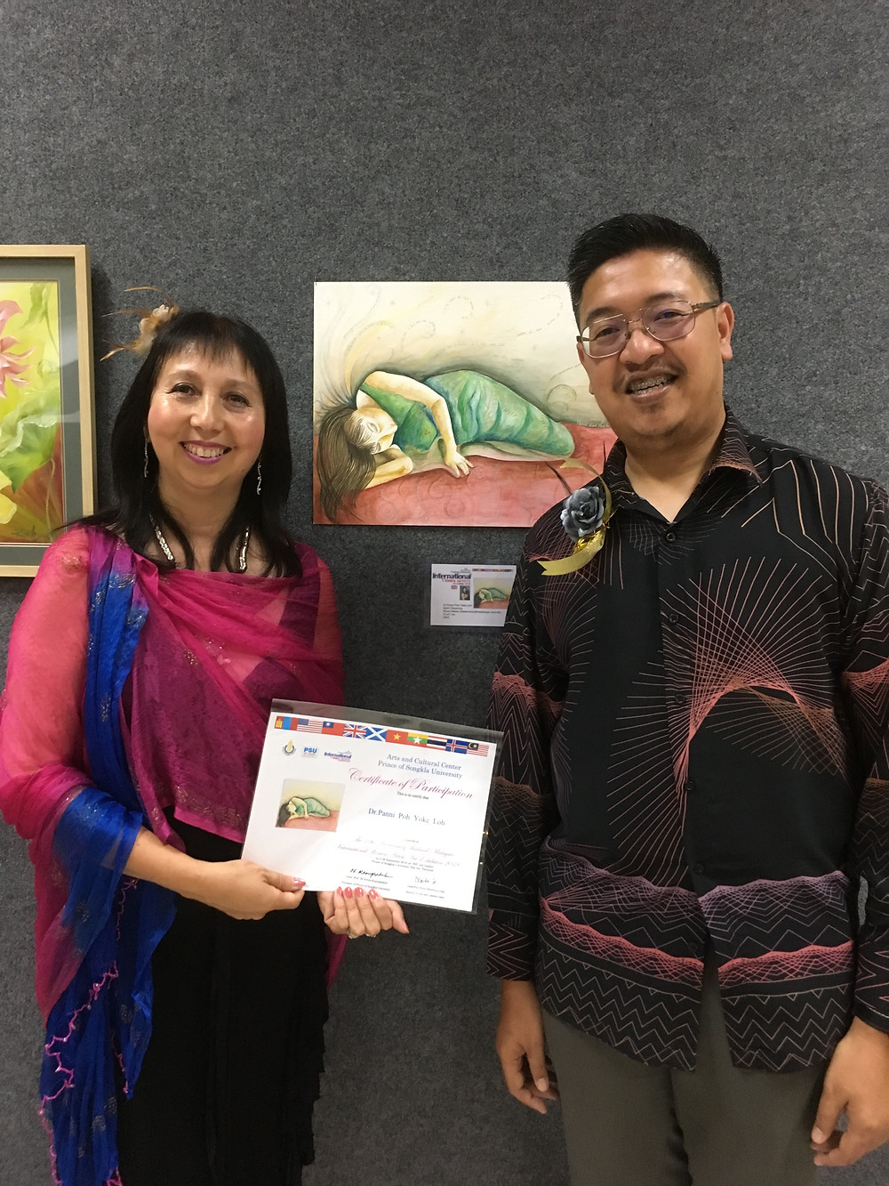 Panni Loh with Mohammed Afandi Abu Bakar, Malaysian Consulate General Songkla, Thailand