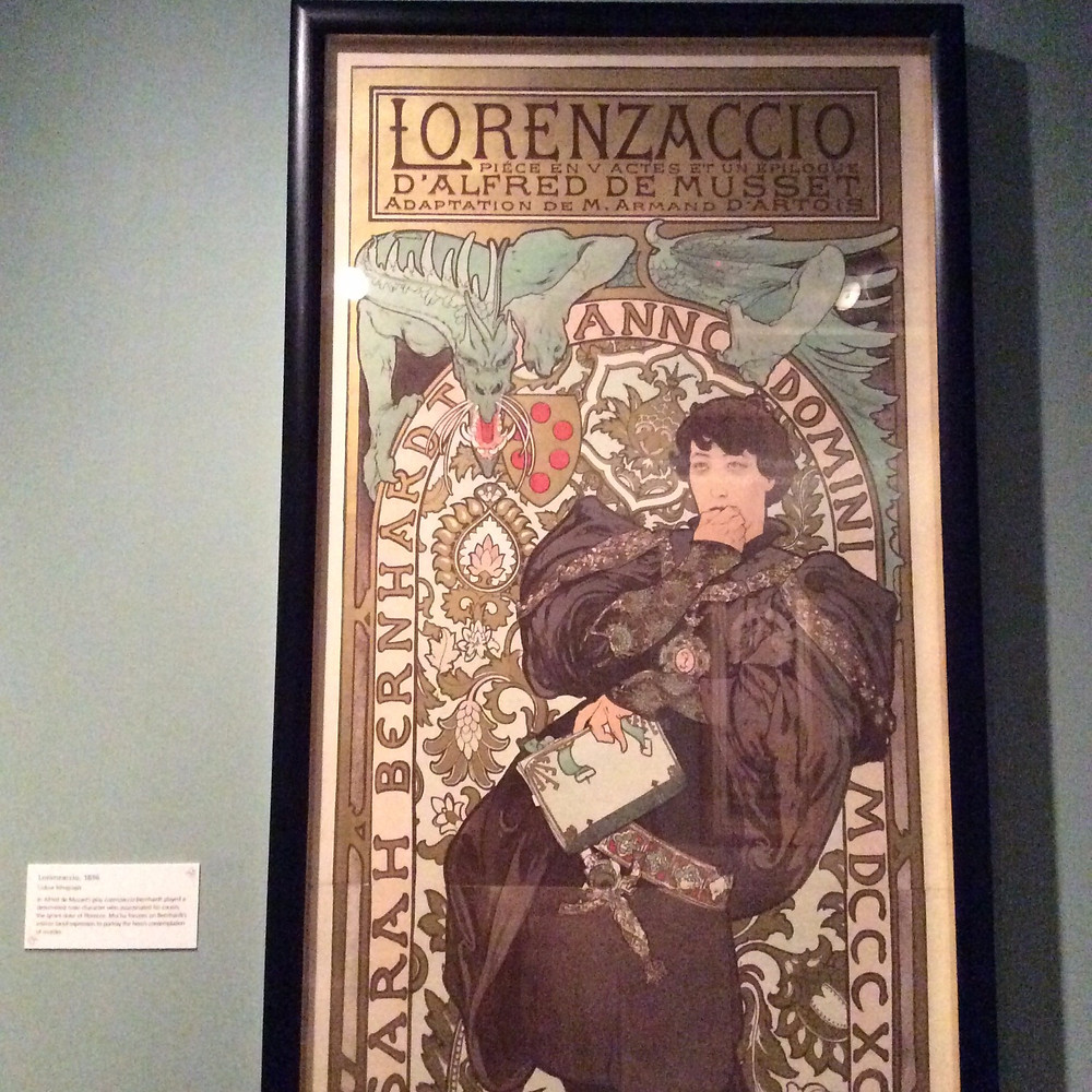 Lorenzaccio poster by Alphonse Mucha