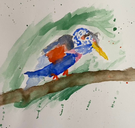 Childrens' painting classes- beauty of birds and upcoming woodland animals