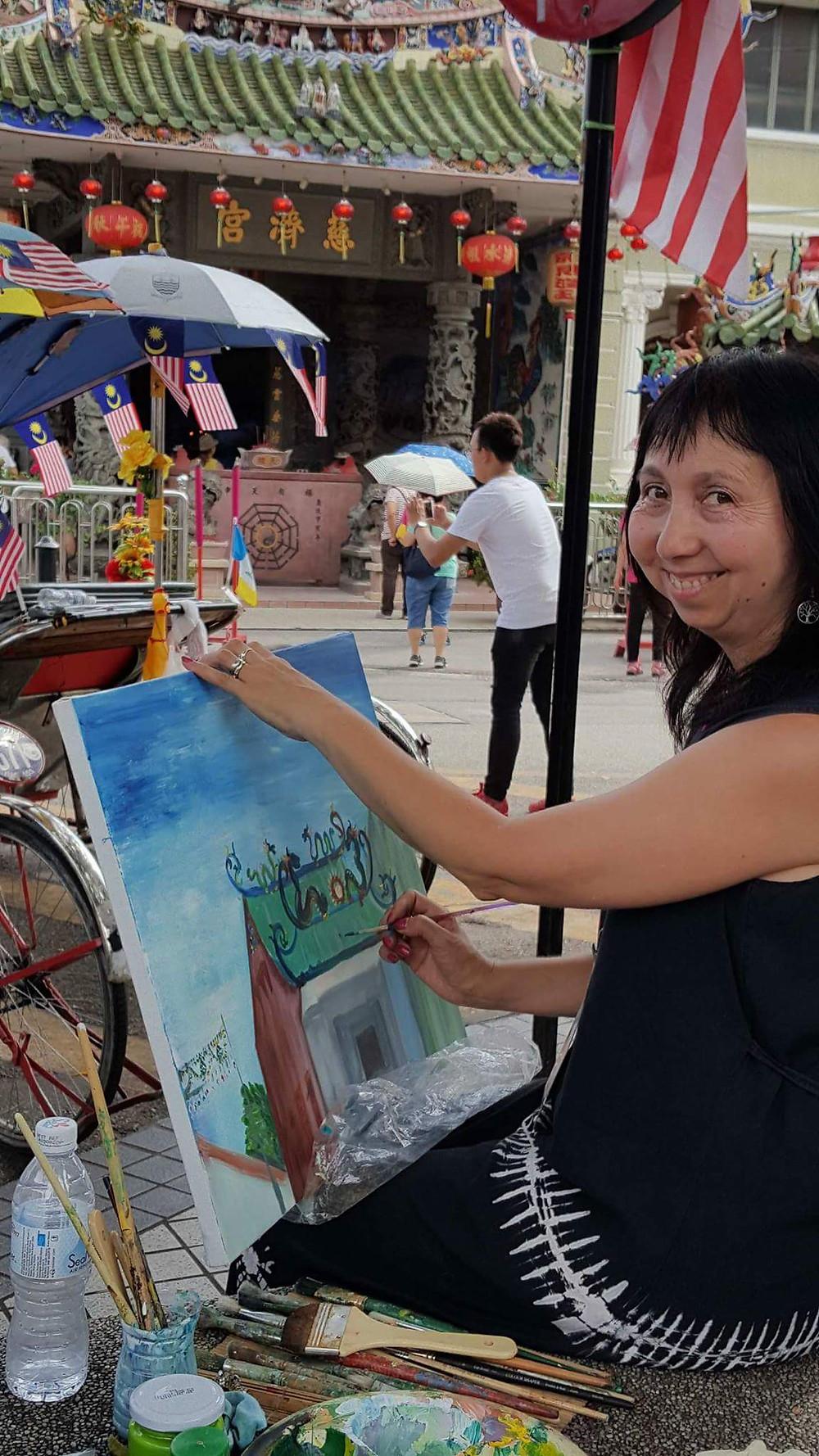 Painting plein air in Penang island