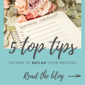 5 top tips on how to replan your wedding