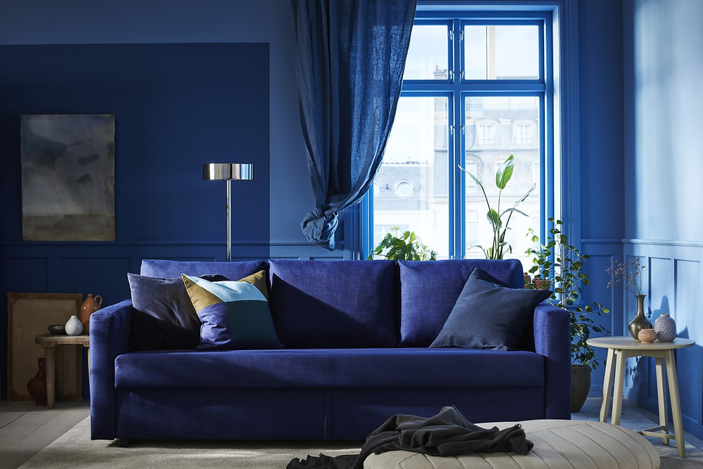Classic Blue Pantone Lounge - Interior Design