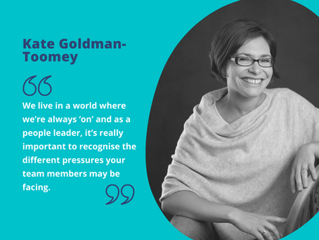 Managing workplace stress: interview with Kate Goldman-Toomey