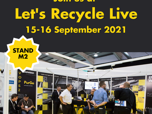 Come and meet the team at Let's Recycle Live