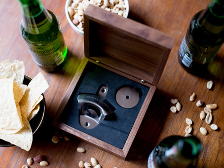 Wall-Mounted Bottle Opener Set with Funny Drink Coasters