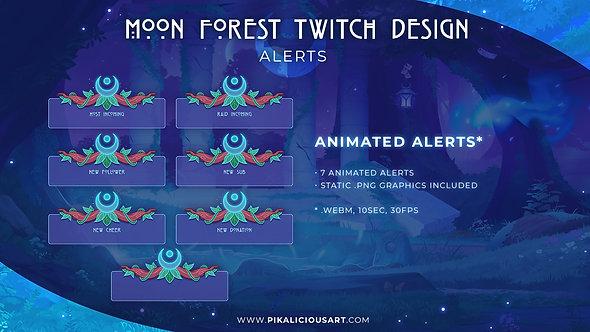 Moon Forest Twitch Design - Alerts