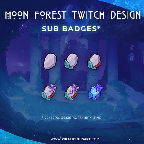 Moon Forest Twitch Design - Sub Badges