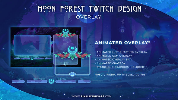 Moon Forest Twitch Design - Overlay