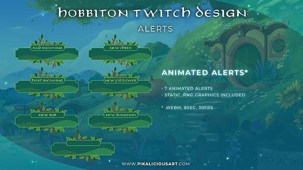 Hobbiton Twitch Design - Alerts
