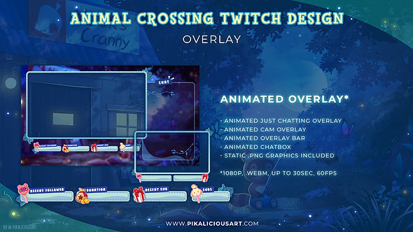 Animal Crossing Twitch Design - Overlay
