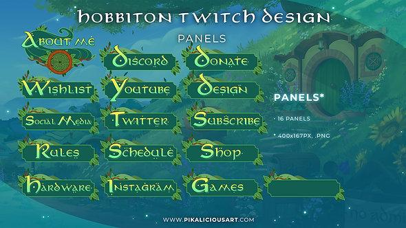 Hobbiton Twitch Design - Panels