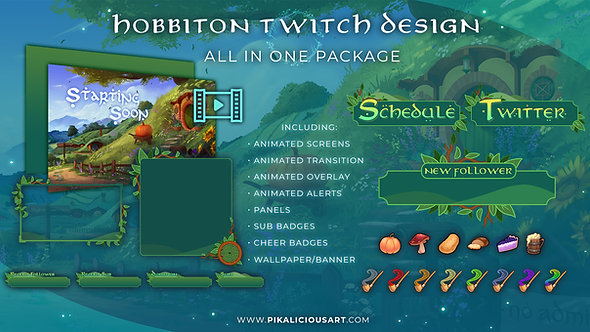 Hobbiton Twitch Design - All in One Package