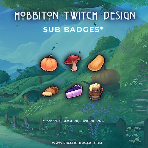 Hobbiton Twitch Design - Sub Badges
