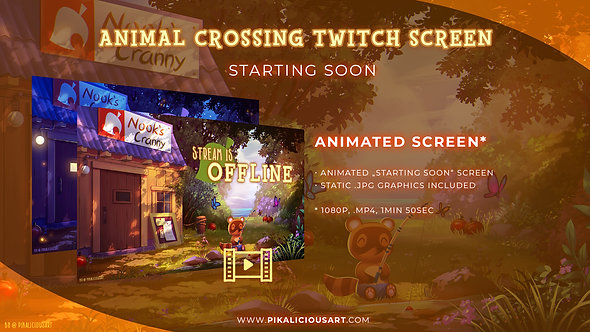 Animal Crossing Twitch Design - Screen Only