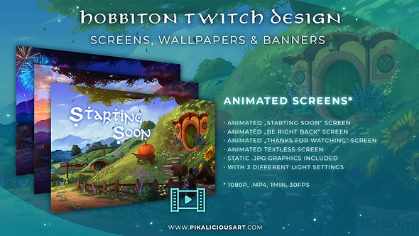 Hobbiton Twitch Design - Screens