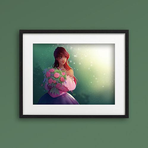 Print - Flower Girl