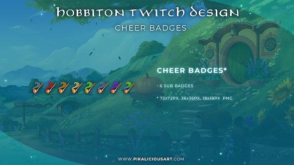 Hobbiton Twitch Design - Cheer Badges