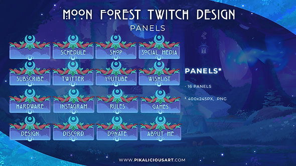 Moon Forest Twitch Design - Panels
