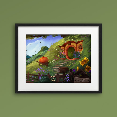 Print - Hobbiton at Day