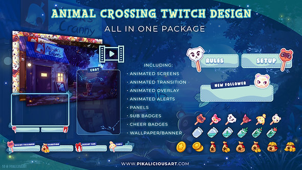 Animal Crossing Twitch Design - All in One Package