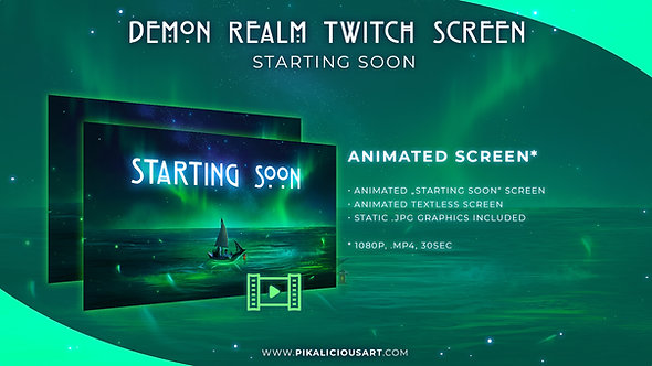 Demon Realm Twitch Design - Screen Only