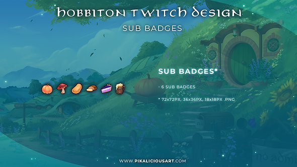 Hobbiton Twitch Design - Sub Badges