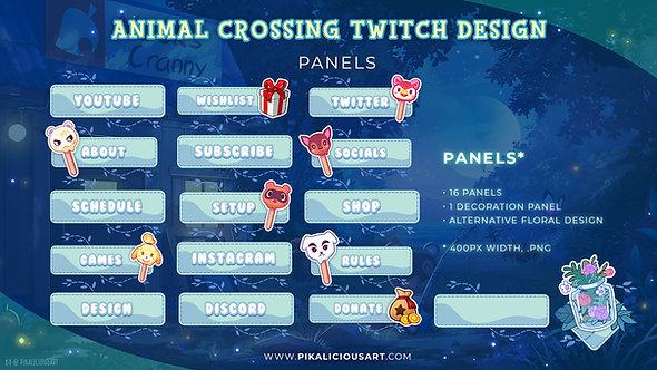Animal Crossing Twitch Design - Panels