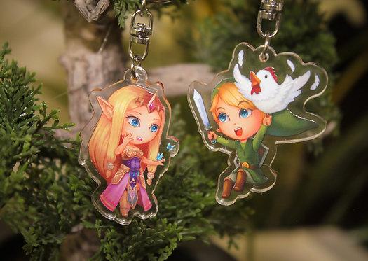 Keyring - Link or Princess Zelda