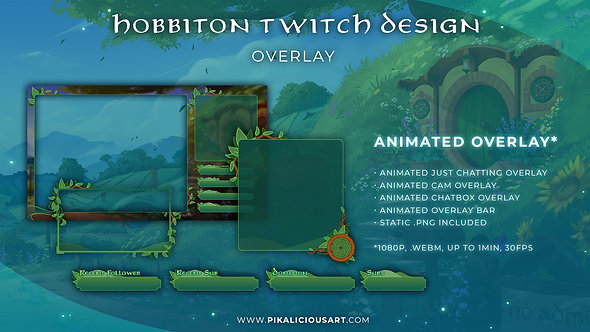 Hobbiton Twitch Design - Overlay