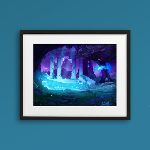 Print - Moon Forest