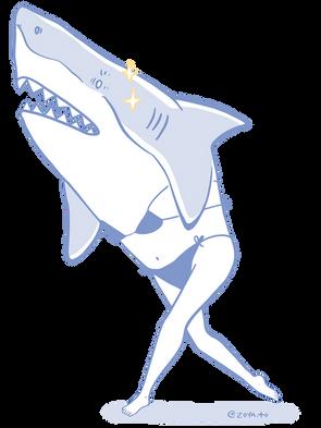 Shark Mermaid Lady
