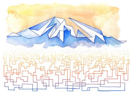 """""""Hiking Up Mount Fuji"""""""