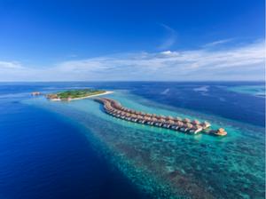 Hurawalhi Maldives is a 90-villa island resort featuring the Maldives' largest underwater restaurant