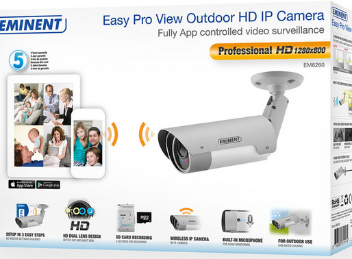 Monitor your home and garden with Eminent's new Easy Pro View Outdoor HD IP Camera