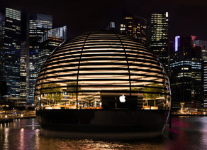 Apple opens eye catching store in Singapore as retail rallies