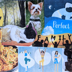 """Example of a """"Perfect day"""" collage - Session 6b, 2021"""