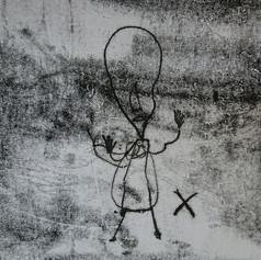 Monoprint design by one participant, 2018