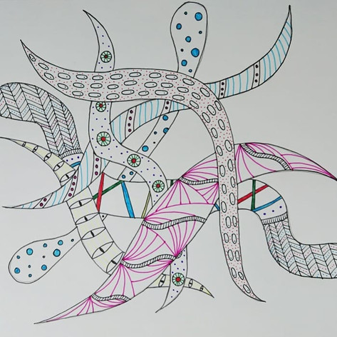 A group zentangle, 2018