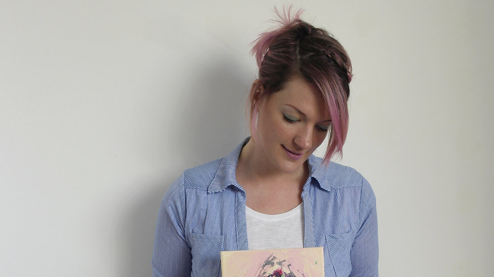 Pink Abstract Vulva Using Acrylic on Canvas