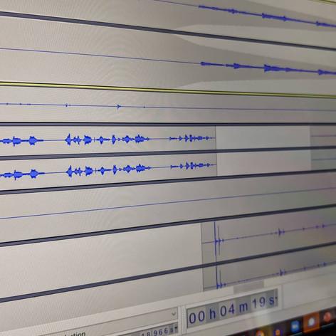 Work in progress audio resource, 2021